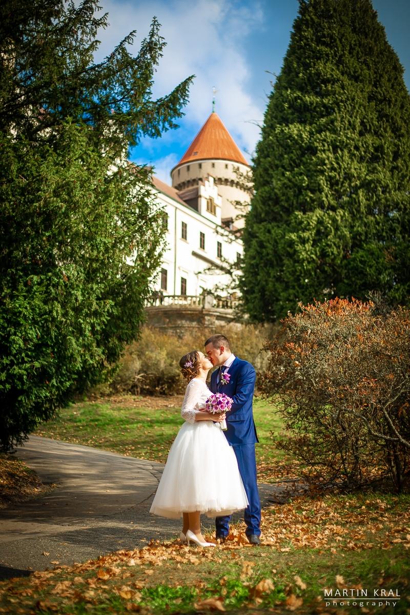 Svatební fotograf - svatba na zámku Konopiště