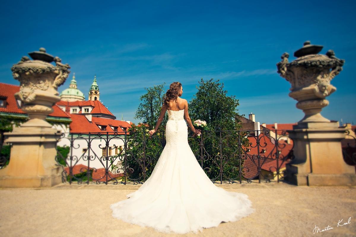 Vrtbovská zahrada Praha | Svatby | Nevěsta
