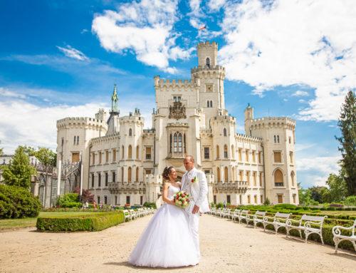 Svatba Lenky a Pavla na zámku Hluboká nad Vltavou